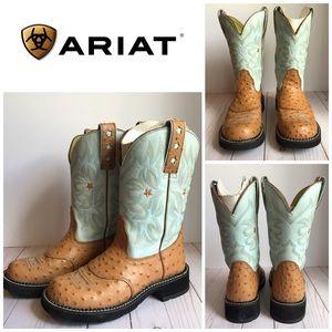 """Ariat Women's ProBaby 10"""" Ostrich Western Boots 7"""